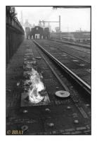 Voie d'enfournement du charbon, fours à coke des Forges de La Providence, Cockerill- Sambre, Marchienne-au-Pont, Belgique, 1983 - argentique