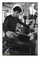 Souffleur de verre, Cristalleries de Boussu, Boussu, Belgique, 1982 - argentique