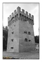 La tour Malakoff de la fosse du Sarteau (1823), Fresnes-sur-Escaut, Nord, France, 2007 - argentique