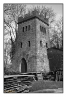 La tour Malakoff du puits Kunstschacht (1851), Stadthagen, Niedersachsen, Deutschland, 2013 – numérique