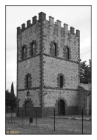 La tour Malakoff du puits Alfredo (1855), Miniera di Caporciano (Cu), Montecatini Val di Cecina, Toscana, Italia, 2009 - numérique