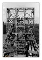 Chevalement portique du puits n°2 du charbonnage de Beringen, Belgique, 1988 - argentique