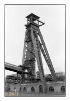 Chevalement du puits I du charbonnage de Winterslag, Genk, Belgique, 1992 - argentique