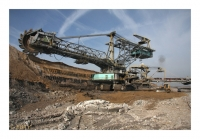 Bagger de découverture, Tagebau Vereinigtes Schleenhain, Mibrag, Leipzig- Groitzsch, Sachsen, Deutschland, 2012 - numérique