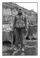 Ouvrier rocteur, Carrières Lemay, Vaulx, Belgique, 1981 - argentique